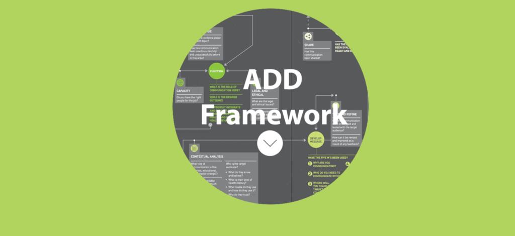 Add for health communication framework